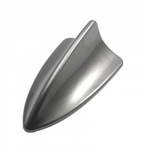 24e - Auto Car Shark Fin Roof Decorative Decorate Antenna Dummy Aerial Universal Gray