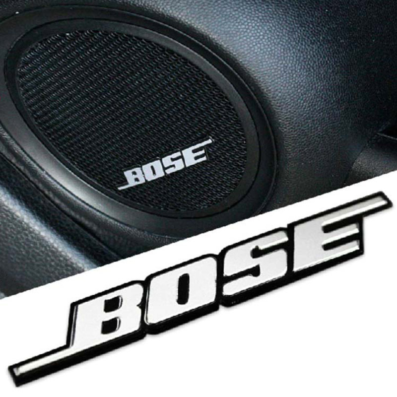 3d bose logo car interior decoration metal amplifier loudspeaker sticker audio speaker emblem badge. Black Bedroom Furniture Sets. Home Design Ideas